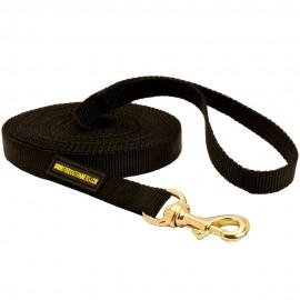 Lange Leine aus Nylon für Training und Sport für Schäferhund