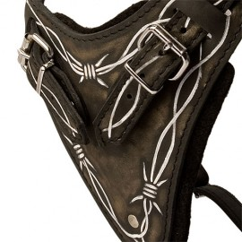 Working German Shepherd Harness of Strong Leather