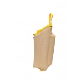 Schäferhunde Beinschutzmanschette mit Handschlaufe und Klettverschluss