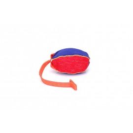 Schäferhunde Beißkissen Ball aus French Linen mit Handgriff, klein