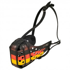 German Shepherd Muzzle with German Flag Hand Painted