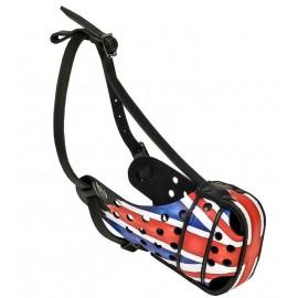Ledermaulkorb für Schäferhund mit Großbritannien Design