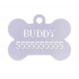ID-Medaillon für Schäferhund mit Gravierung in Form des Knochens