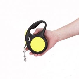 Reflektierende Flexi Gurt-Roll-Leine 5 Meter