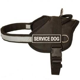 Reflektierendes Fährtengeschirr aus Nylon für Schäferhund
