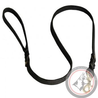Braided Leather Dog Leash for Shepherd Walks and Training