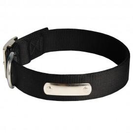 Starkes Nylon Hundehalsband für Schäferhund mit Schild für Name