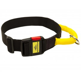 German Shepherd Collar Nylon with Handle and QR Buckle
