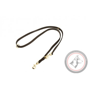 Braided Leather Dog Leash for Shepherd Walks and Training