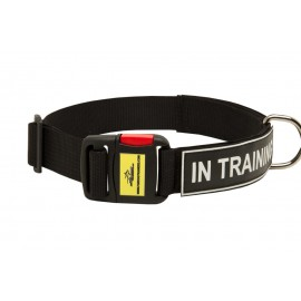German Shepherd Collar of Nylon with ID Patches