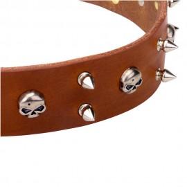 Stilvolles Schäferhunde Halsband breit
