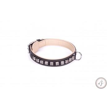 German Shepherd Collar FDT Artisan Black Leather