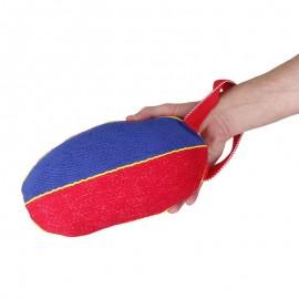 Schäferhunde Beißspielzeug Ball aus French Linen an Schnur