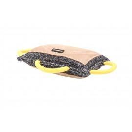 Jute Beißkissen für Schäferhunde mit drei Handgriffen, dick und groß
