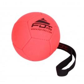 Orange Hüpfball für Schäferhunde 12 cm mit Schlaufe