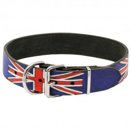 Leather Dog Collar - United Kingdom Pride