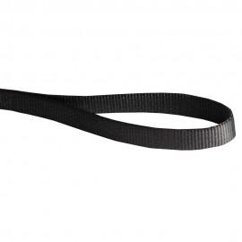 Klassische Hundeleine aus Nylon für Labrador in schwarzer Farbe, Handarbeit