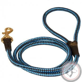 Seil-Hundeleine aus Nylon zweifarbig für Schäferhund