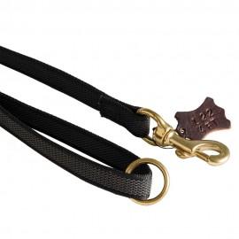 Gummierte Hundeleine aus Nylon für Labrador mit bequemem Handgriff