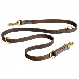 German Shepherd Leash of Leather for Multitasking Use