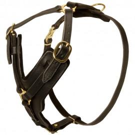 Handgefertigtes Hundgeschirr Leder K9 für Labrador