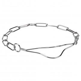 Schäferhund Halsband aus verchromtem Stahl in bequemem Design