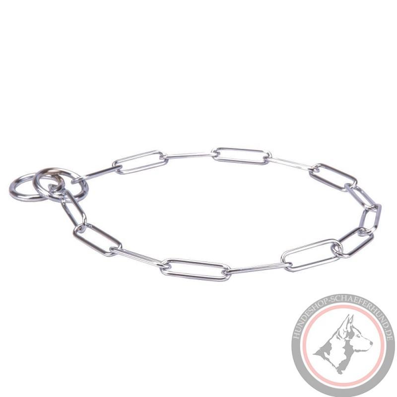 Verchromtes Kette Halsband für Schäferhund-Erziehung und Gehorsam Trainings  ... 552defec11143