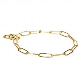 Glänzendes Messing Kette Halsband für Schäferhunde, perfektes Design