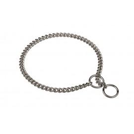 Elegantes Schäferhund Halsband aus Stahl, verchromt und rostfrei