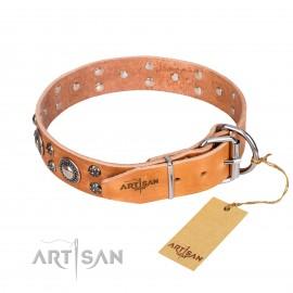 "GSD Collar Leather ""Extra Sparkle"""
