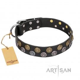 "German Shepherd Dog Collar ""Romantic Breeze"" by FDT Artisan"