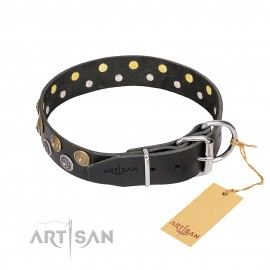 "German Shepherd Dog Collar ""Romantic Breeze"" by FDT Artisan"