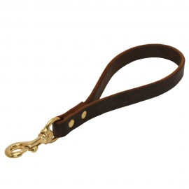 Short Leather Dog Leash for German Shepherd