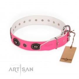 "German Shepherd Collar Female ""Flavor of Strawberry"" FDT Artisan"