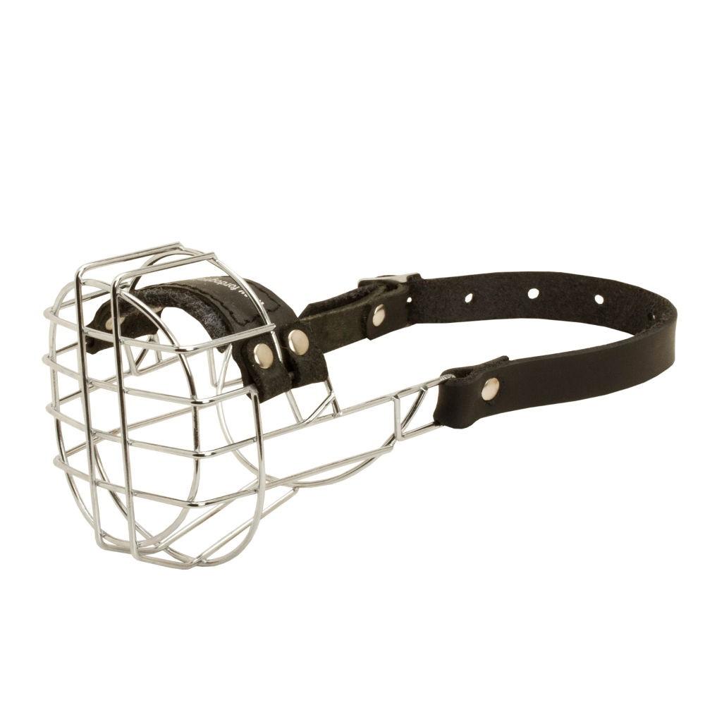 Muzzle for German Shepherd Walking, Wire Basket Design - hundeshop ...
