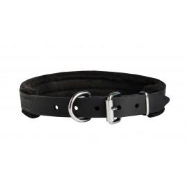 Hundehalsband aus Leder für Schäferhunde, dickes Filz-Futter