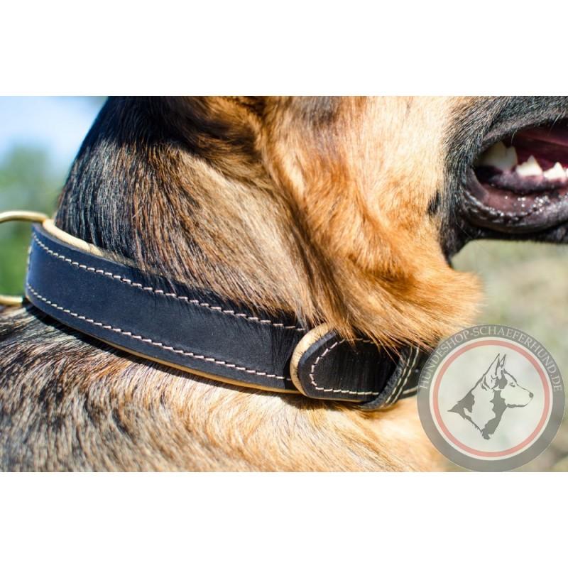 luxus Hundehalsband aus Leder für Schäferhund kaufen